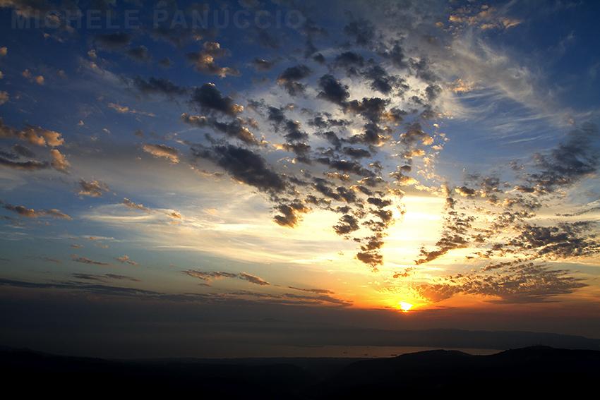 sunset Strait Messina